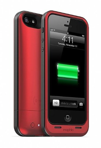 【並行輸入品】Mophie+Juice+Pack+Air+External+Battery+Case+for+iPhone+5+-+Red