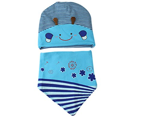 BONAMART ® Baby Boys Girls Animal Cotton Knit winter Hat Cap 6-18 months with bibs