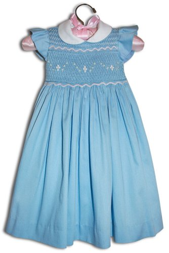 Elena Hand smocked girl blue party dress - Size 2 - Buy Elena Hand smocked girl blue party dress - Size 2 - Purchase Elena Hand smocked girl blue party dress - Size 2 (Farfallina For Kids, Farfallina For Kids Dresses, Farfallina For Kids Girls Dresses, Apparel, Departments, Kids & Baby, Girls, Dresses, Girls Dresses, Baby Doll & Sundresses)