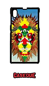 Caseque The Abstract Lion Back Shell Case Cover For Sony Xperia Z1