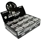 Dunlop Competition Single Yellow Dot Squash Balls (1 Dozen)