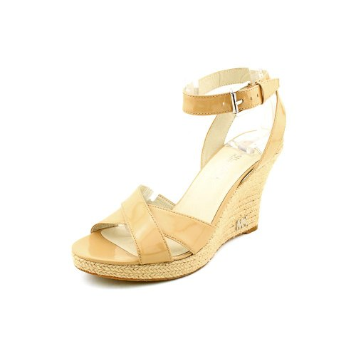 Michael Kors Kami Ankle Strap Womens Size 9.5 Nude Open Toe Wedge Sandals Shoes