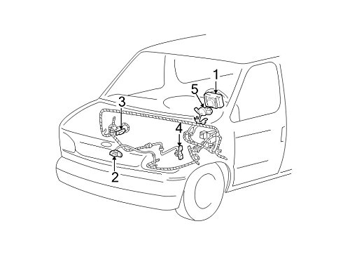 Ford 4C2Z-14A664-BA - COVER AND CONTACT PL (Clock Spring Ford compare prices)