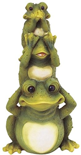 StealStreet SS-G-61035, Frogs Hear See Speak No Evil Collectible Garden Decoration Figurine