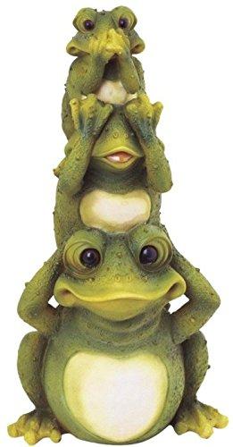 StealStreet SS-G-61035, Frogs Hear See Speak No Evil Collectible Garden Decoration Figurine