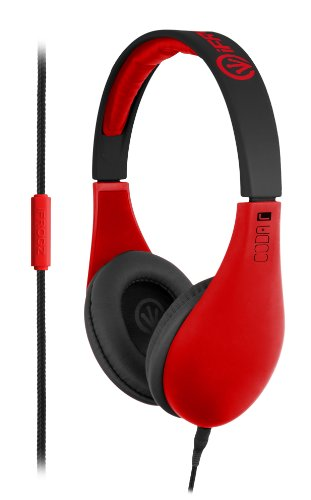 Ifrogz If-Cod-Nred Coda Headphones With Mic, Neon Red