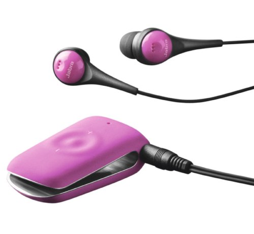Jabra CLIPPER Bluetooth Stereo Headset - Retail Packaging - New Pink Jabra Bluetooth Headsets autotags B007NZN6WE