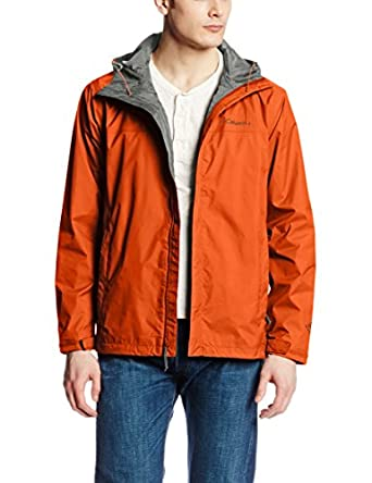 Columbia Men's Watertight II Packable Rain Jacket, Back Country Orange, Small