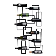 Oenophilia Mid Century Wall Mount Wine Rack - 10 Bottle