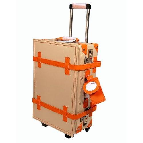 ハナイズム トランクキャリーバッグ - HANA ism -S15 サンド×オレンジ/キャリーケース・スーツケース