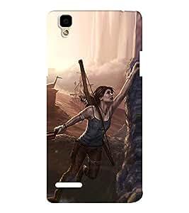 EPICCASE Tom Raider Mobile Back Case Cover For Oppo F1 (Designer Case)