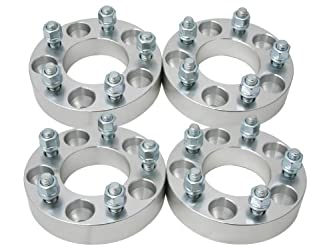 (4) 1″ (25mm) 5×127 (5×5) to 5×114.3 (5×4.5) Wheel Adapters/Spacers with 12×1.5 studs/nuts