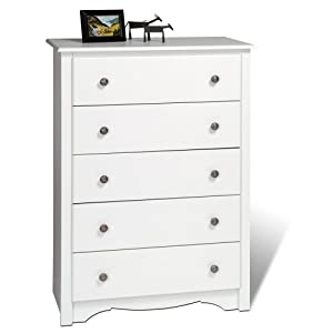 Prepac Monterey 5 Drawer Chest