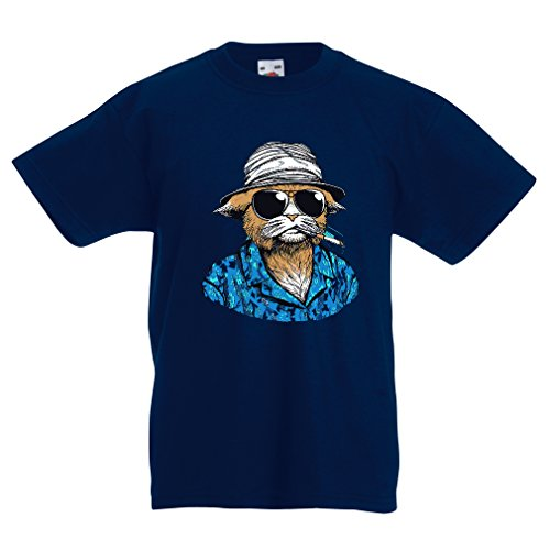 funny-t-shirts-for-kids-vintage-private-eye-5-6-years-dark-blue-multi-color