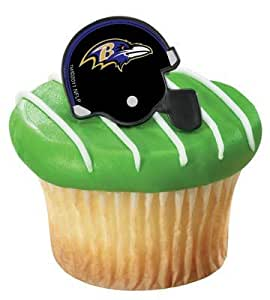 NFL Baltimore Ravens Cupcake Rings 12 Pack