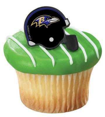 Nfl Baltimore Ravens Cupcake Rings 12 Pack Picture