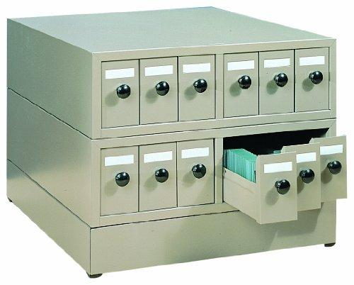 """Quincy 100Sckb Beige Steel Slide Cabinet, 18.75"""" Length X 15.75"""" Width X 4-7/8"""" Height, 5000 Slide"""