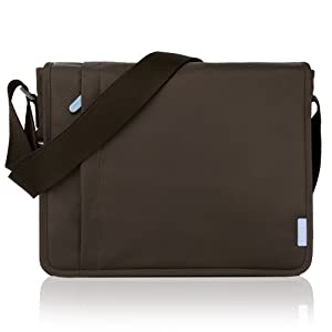 Duzign Carrier Horizontal Messenger Bag (Brown) for 11 Inch Netbook by Duzign