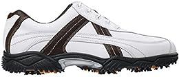 Mens FootJoy Contour Series Golf Shoe Wide White Black