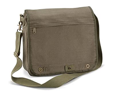 Bagbase Vintage Canvas Despatch Bag in Vintage Olive