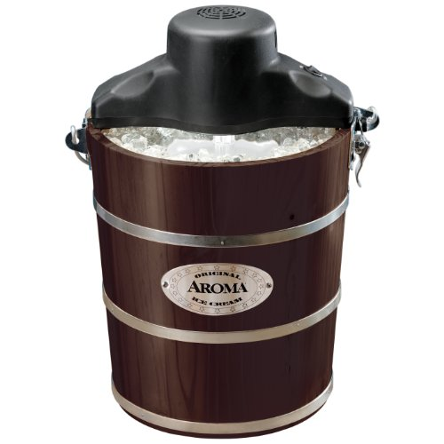 Aroma Aic-224Wp Traditional Ice Cream Maker, 4-Quart