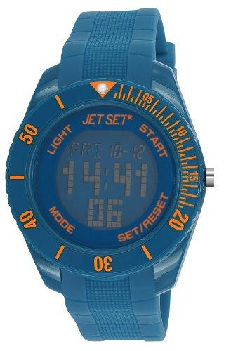 Jet Set - J93491-15 - Bubble - Montre Mixte - Quartz Digital - Cadran Bleu - Bracelet Caoutchouc Bleu