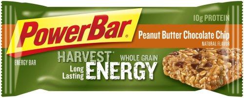 PowerBar Harvest Whole Grain Energy Bar, Peanut Butter Chocolate Chip, 2.29-Ounce Bars (Pack of 15)