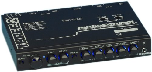 Three.2 - Audiocontrol In Dash Pre-Amp Equalizer/Crossover W/ Dual Auxiliary Inputs