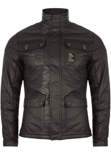 Mens CrossHatch Military Style Quilted Jacket. Style Name - Mayfare. In Military Green Size - Large