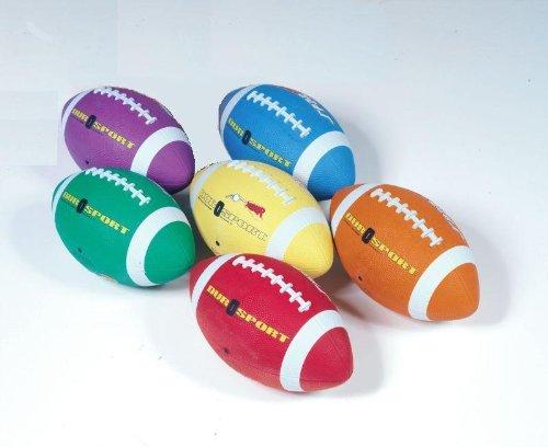 School Smart Gradeballs Rubber Footballs - Youth Intermediate Size 7 - Set Of 6 Colors front-960774