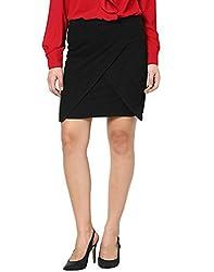 Besiva black wrap skirt