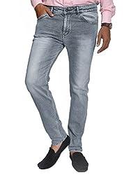 Scorzio Men's Regular Fit Jeans (SZ0005_3_Grey_34)