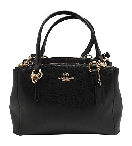 Image of Coach F36704 Mini Christie Carryall in Crossgrain Leather Black