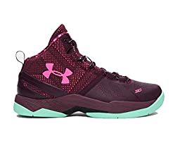 Under Armour Curry 2 Gs Dk Maroon/Antifreeze 5.5