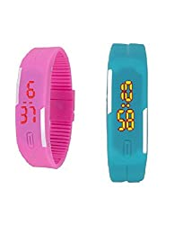 LIME 2 BAND WATCHES FOR MEN-Pink (pink-skybluebandwatchesM)