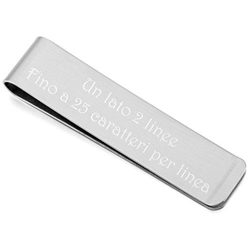 MeMeDIY Argento Acciaio Inossidabile Clip Fermasoldi - personalizzato incisione