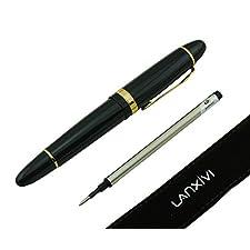 159 Lanxivi Jinhao bolígrafo de punta redonda con borde plateado Multicolor negro Color Big con bolígrafo funda