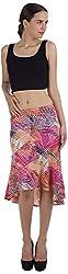 ViaKupia Women's Regular Fit Skirt (07310_S, Pink, Small)