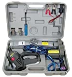 12v DC Emergency Roadside Flat Tire Tool Kit with Impact Wrench & Powered Jack