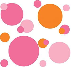 Roommates rmk1095scs pink and orange wallpockets peel for Orange peel and stick wallpaper