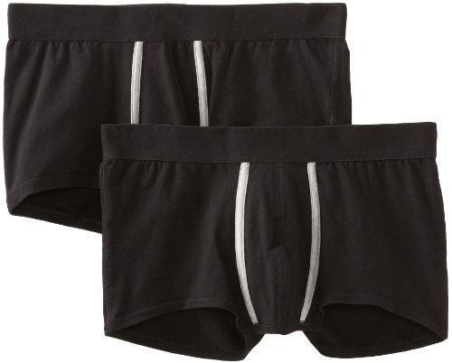 Pact Men'S Trunk Two Pack, Black, Small