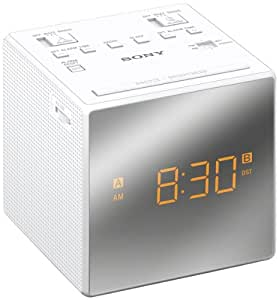 sony icfc1t dual alarm clock radio white electronics. Black Bedroom Furniture Sets. Home Design Ideas