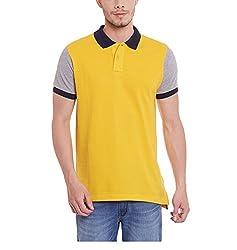 Yepme Men's Yellow Cotton Polos - YPMPOLO0493_M