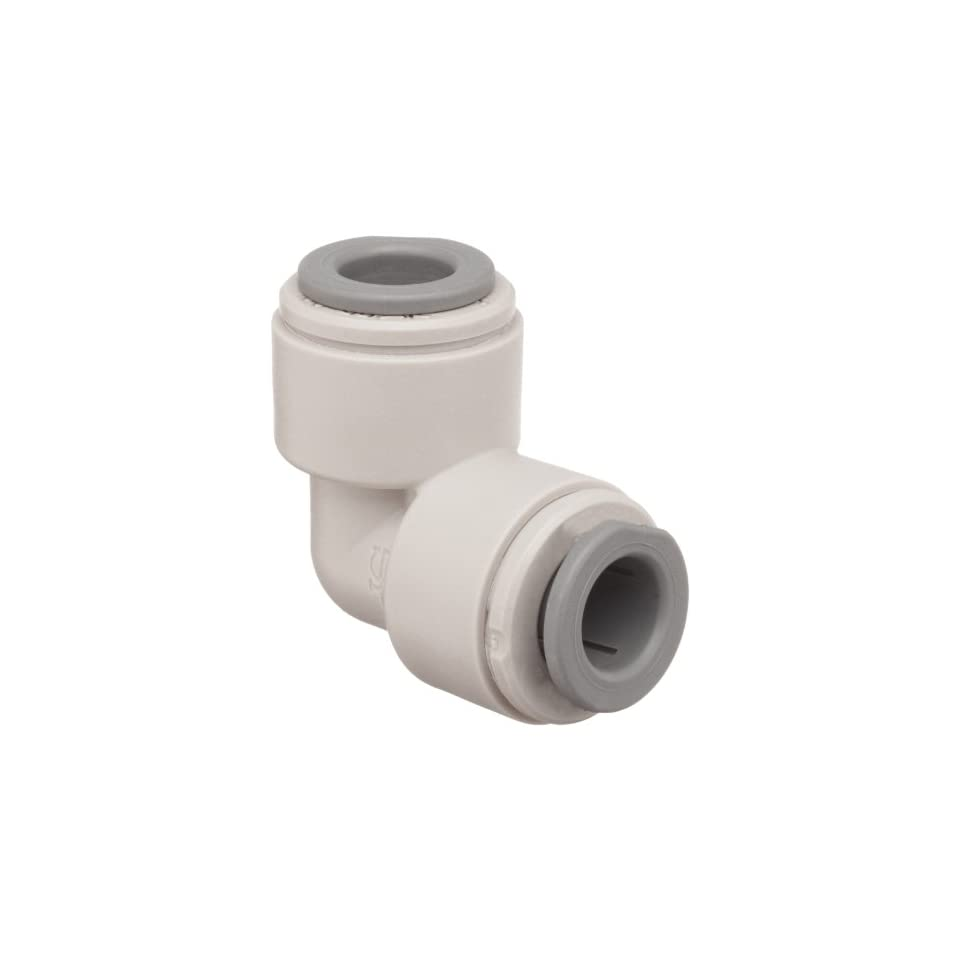John Guest Acetal Copolymer Tube Fitting, Union Elbow, 5/32 Tube OD (Pack of 10)