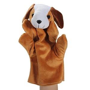 Zoo Animal Hand Sock Glove Finger Puppets Sack Plush Toy Dog