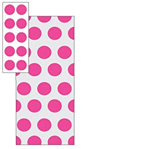 Hot Pink Dot Treat Bags (20 count)