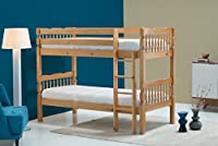 Birlea Weston 3ft Single Wooden Bunk Bed, Solid Pine
