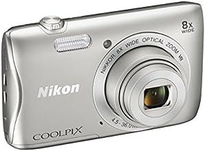 """Nikon Coolpix S3700 Fotocamera Digitale Compatta, 20 Megapixel, Zoom 8X, 3200 ISO, LCD 2,7"""", HD, colore: argento [Nital card: 4 anni di garanzia]"""