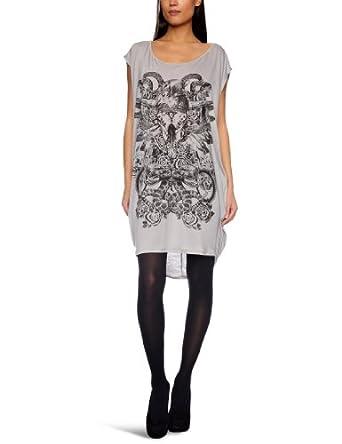 Replay W3312 Tunic Women's Dress Light Grey X-Large