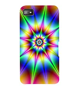 ColourCraft Colour Abstract Design Back Case Cover for BLACKBERRY Z10